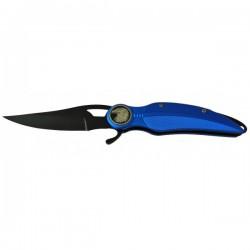 Couteau De Poche Plume Bleu Électrique