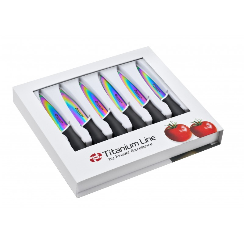 Couteaux à Steak Lame Titane (X6)